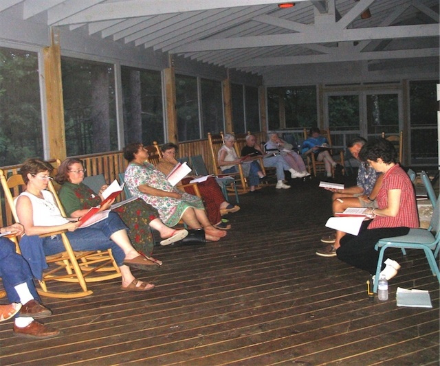 Class in the Meeting House porch
